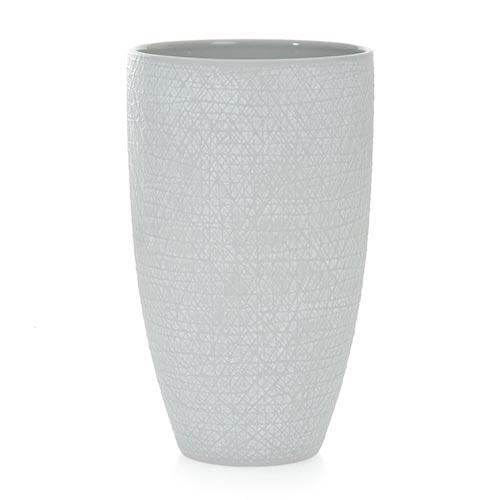 Vaso Scratches Cinza em Cerâmica - 25x15 cm