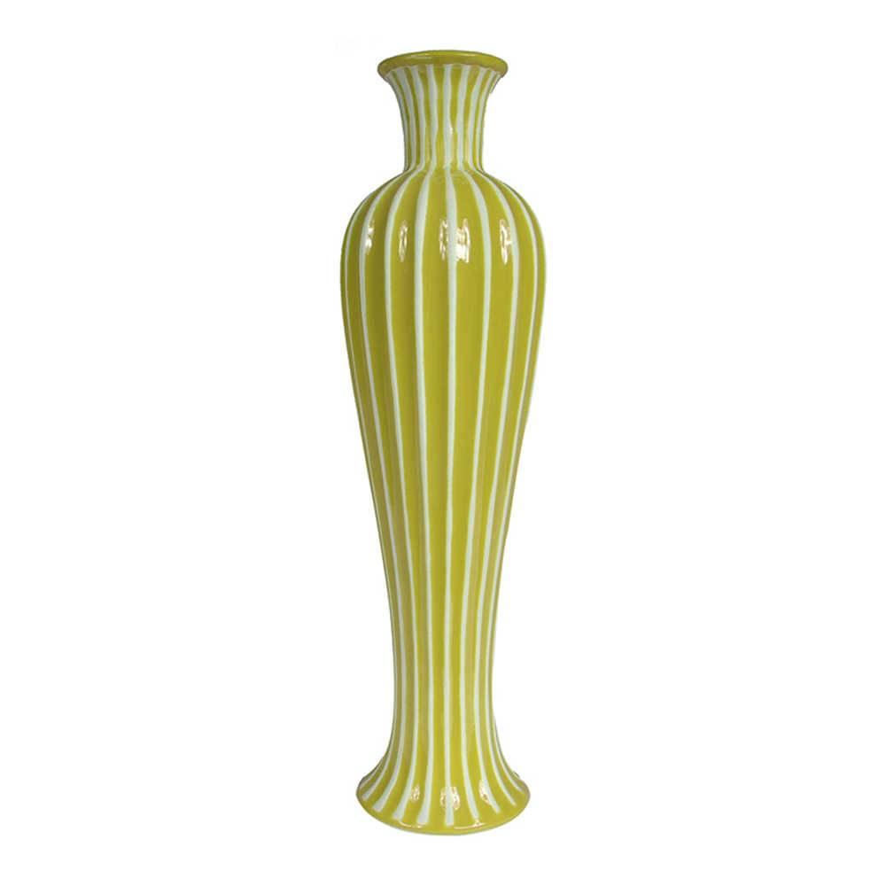 Vaso Skinny Silhouette Verde em Cerâmica - Urban - 46x12,8 cm