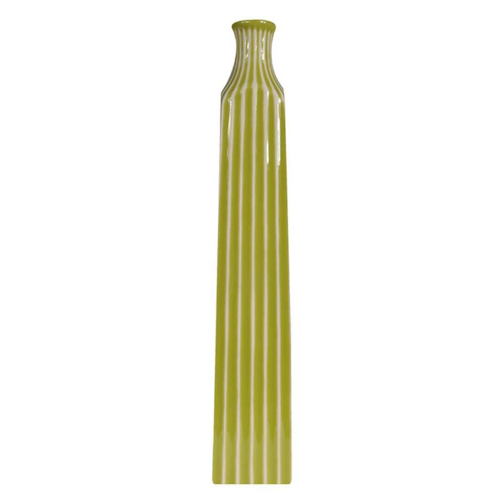 Vaso Skinny Tower Verde em Cerâmica - Urban - 46x8,2 cm