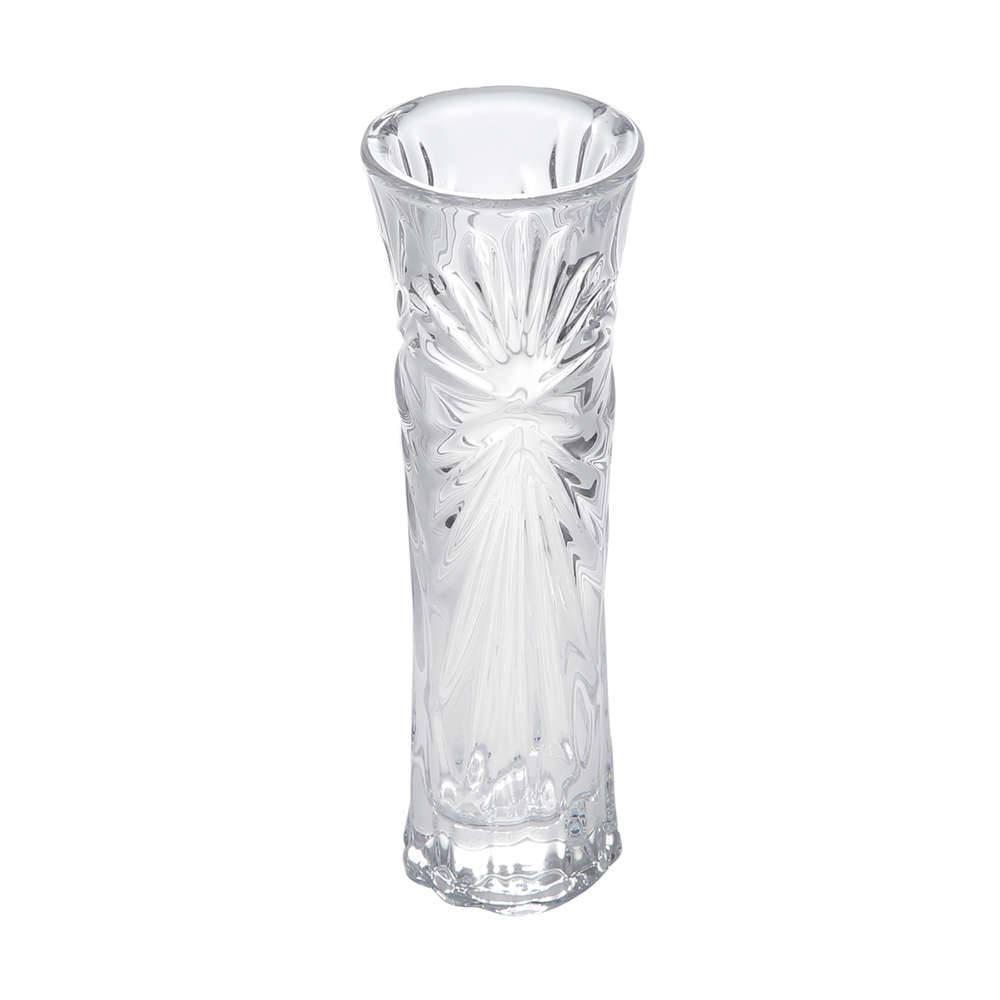 Vaso Solitário Betty Transparente em Vidro - Bon Gourmet - 18,7x6,3 cm