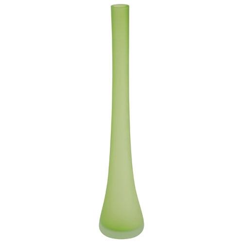 Vaso Solitário Verde Tropical em Vidro - 40x7 cm