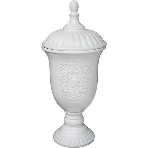 Vaso Stile Branco em Cerâmica - 47x21x21 cm