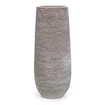 Vaso Stripe Marrom Redondo em Cerâmica