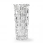 Vaso Treli em Vidro Transparente - 19,5x9,5 cm