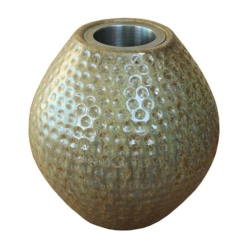 Vaso Valby Bege em Cerâmica - 22x20 cm
