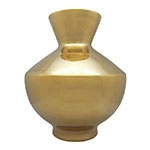 Vaso Victoria em Cerâmica Dourado - 37x30 cm