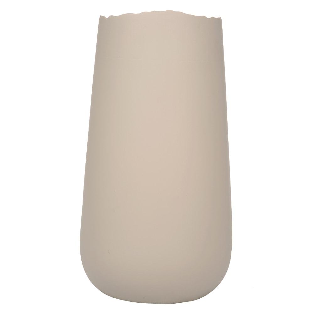 Vaso Wave Bege Grande em Cerâmica - 36x20 cm