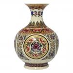 Vaso Yangtse Lady Étnico em Porcelana - 22x16,5 cm