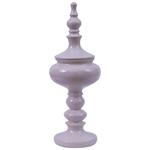 Vaso/Pote Laca Cream em Resina - 36x13 cm