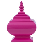 Vaso/Pote Laca Pink em Resina - 19x12 cm