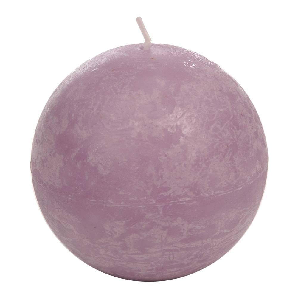 Vela Bola Grande Lilás - 40 Horas - em Parafina - 8,5x8,5 cm