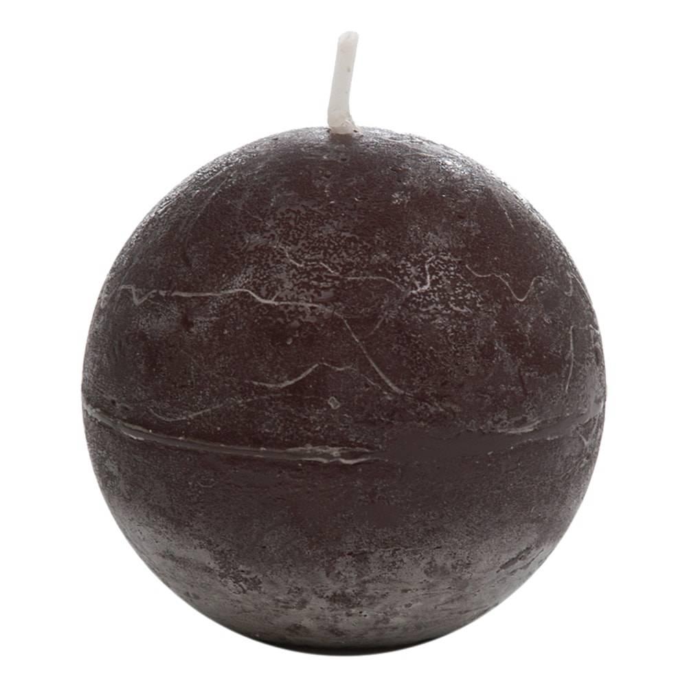 Vela Decorativa Pequena Bola Preta em Parafina - 6,5 cm