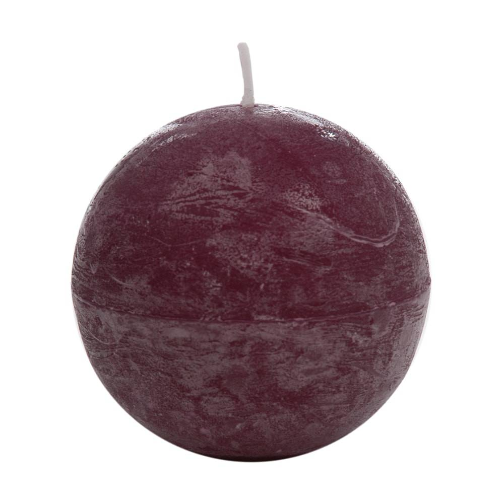 Vela em Forma de Bola Roxa Média - 7,5 cm