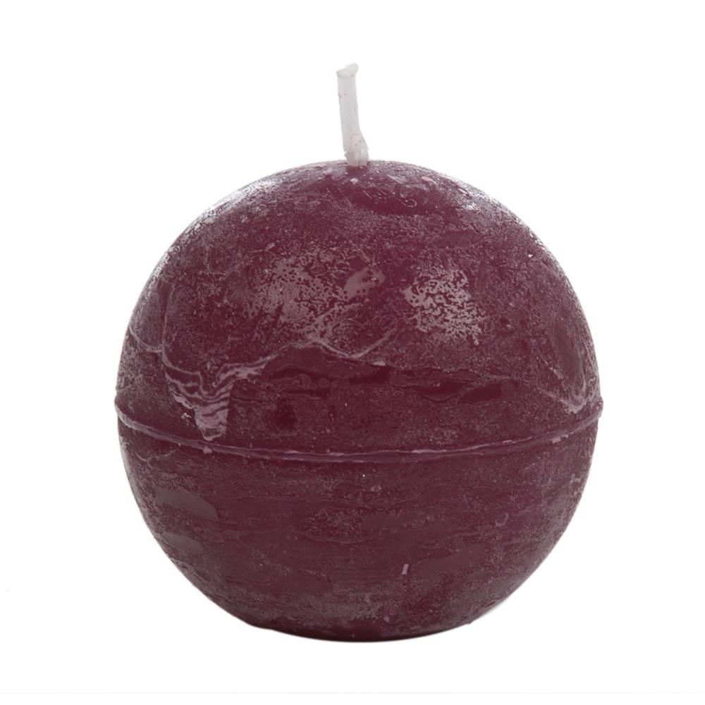 Vela em Forma de Bola Roxa Pequena - 6,5 cm