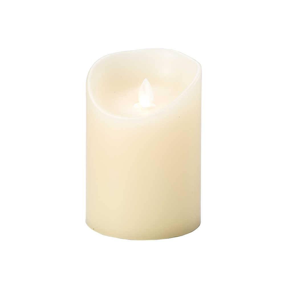 Vela Marfim em Led e Parafina - Lyor Classic - 12,5x9 cm
