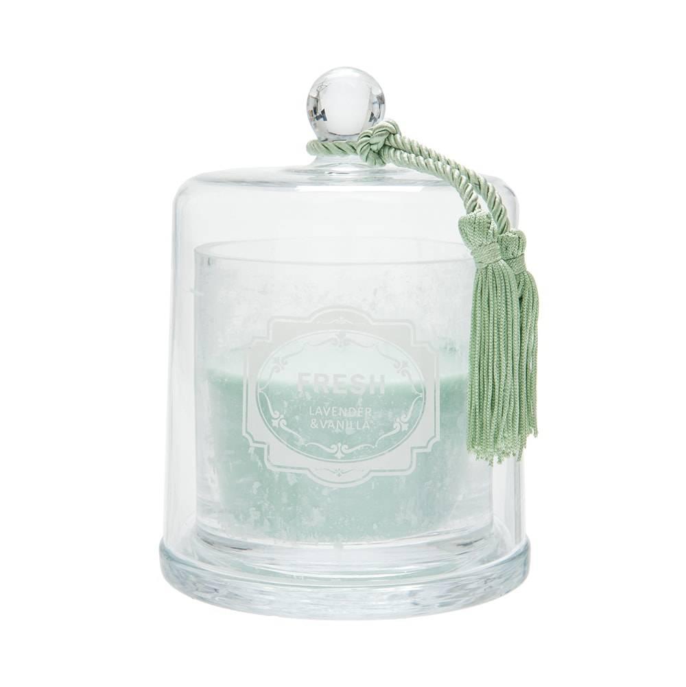 Vela Perfumada Peônia com Pingente Recipiente em Vidro - 18x15 cm