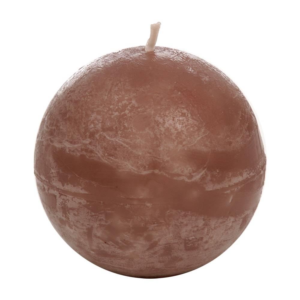 Vela Redonda Marrom Grande em Parafina - 8,5x8,5 cm