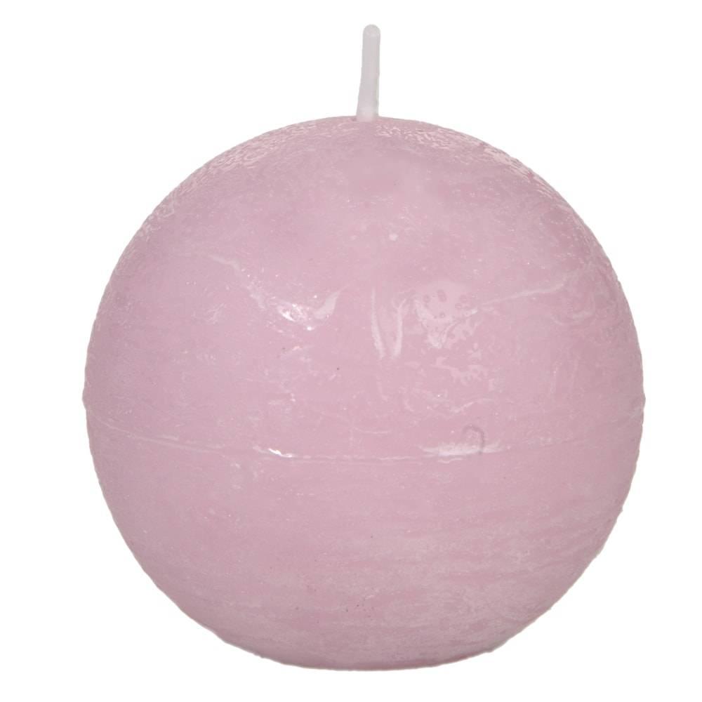 Vela Redonda Rosa Grande - 40 Horas - em Parafina - 8,5x8,5 cm
