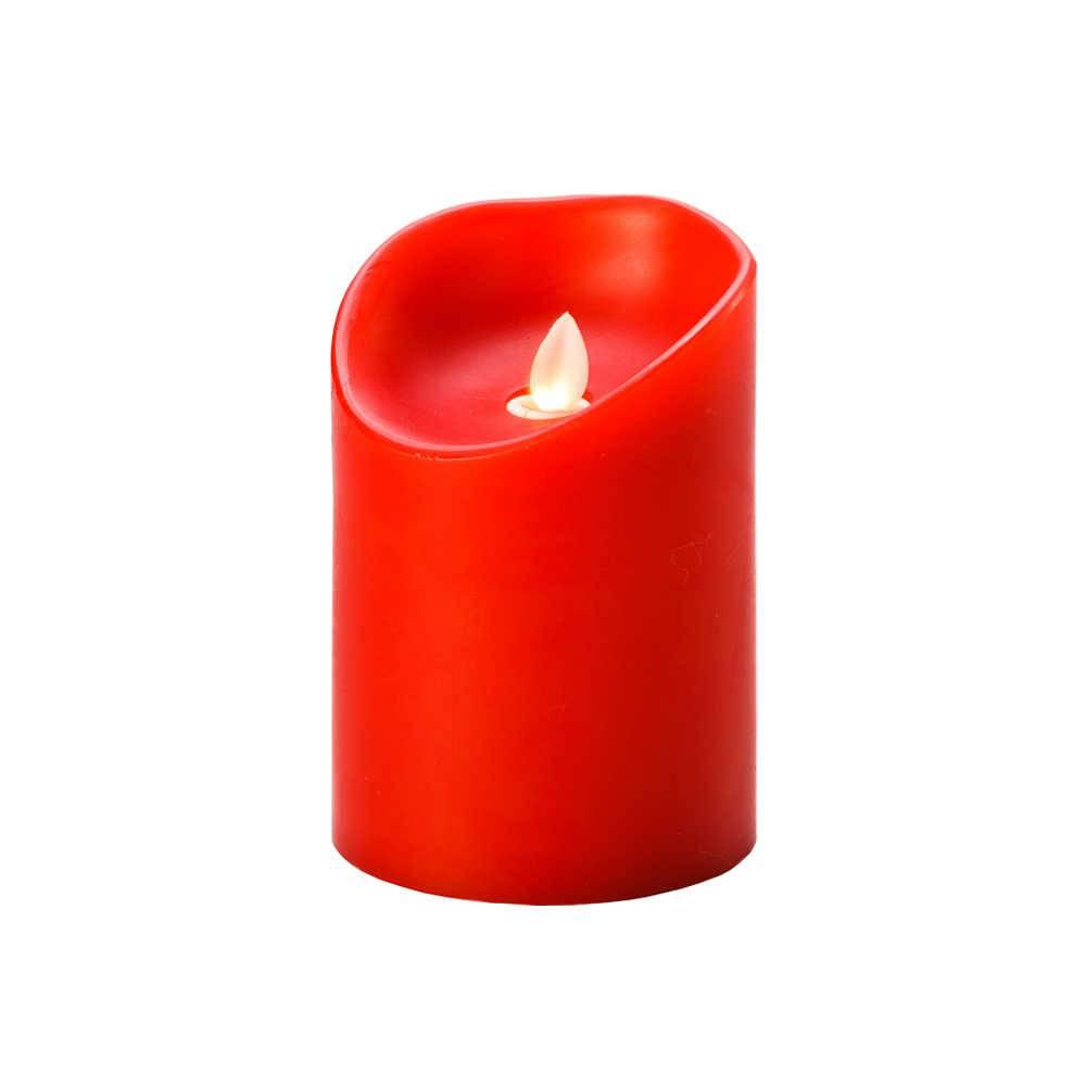 Vela Vermelha em Led e Parafina - Lyor Classic - 12,5x9 cm