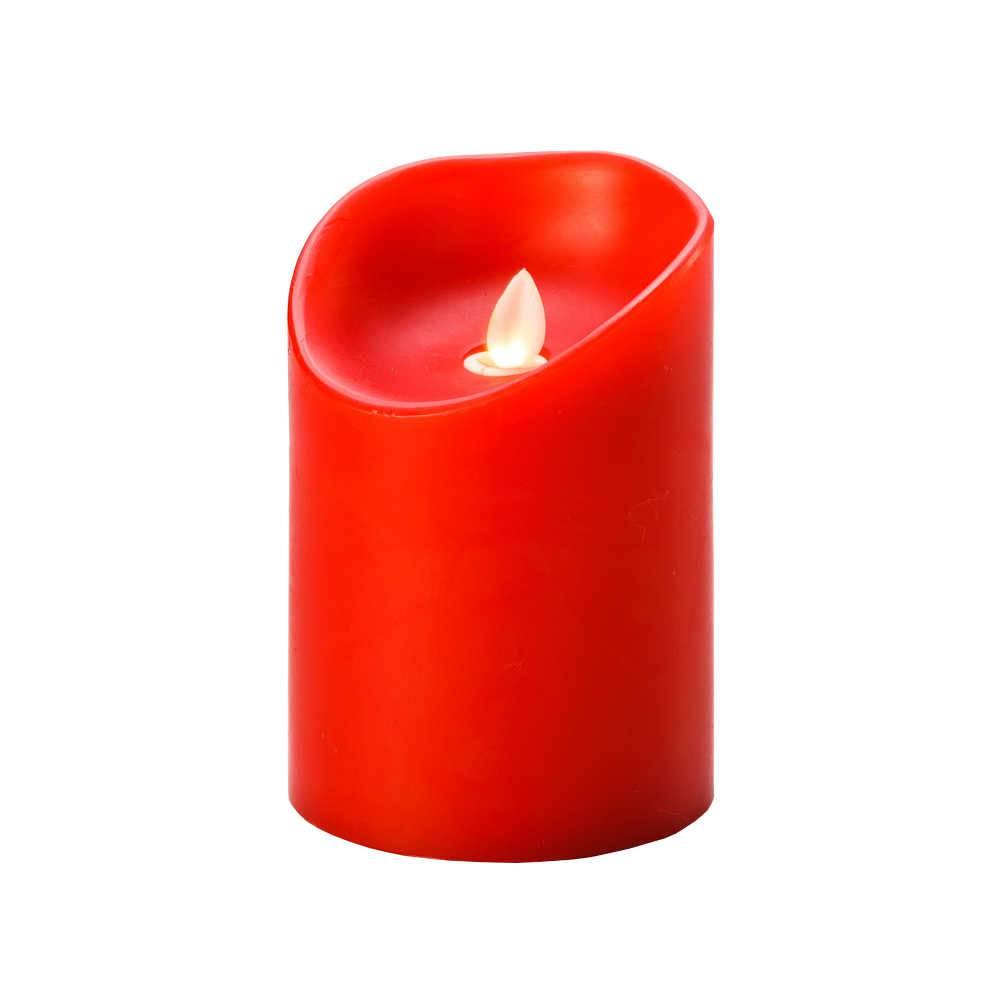 Vela Vermelha em Led e Parafina - Lyor Classic - 22,5x9 cm