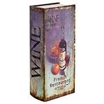 Caixa para Vinho - 1 Garrafa - Roxo Oldway em Madeira - 41x16 cm