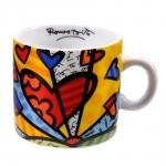 Xícara A New Day - Romero Britto - em Cerâmica - 8x5 cm