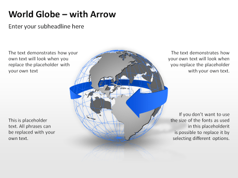 World Globe with Arrow 15
