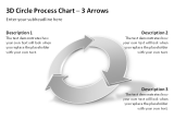 3D Circle Process Arrows 13