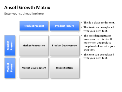 using ansoff matrix on general motors Early in this century general motors ansoff and john steward recently spelled out strategies for new product development.