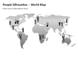 People Silhouettes - World Map 1
