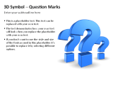 3D Symbols - Question Marks 1