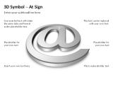 3D Symbols - At Sign 4