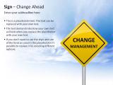 Sign - Change Ahead 1 german