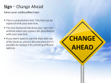 Sign - Change Ahead 3 german