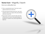 Vector Icon - Magnify / Search