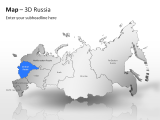 3D Map - Russia