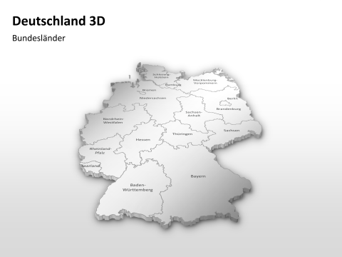 Germany 3D - Federal States 1 german