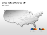 USA 3D - Federal States 1 german