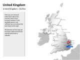 United Kingdom - Outline and Capitals 1 german