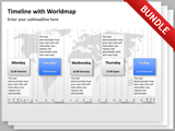 Timeline Worldmap / Globe Bundle