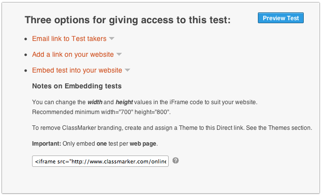 How to Embed Quiz on website