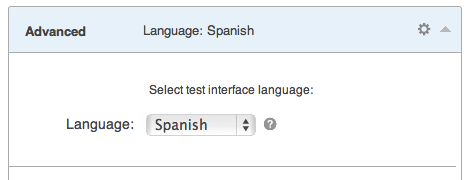 Multilingual Quiz Interface selector