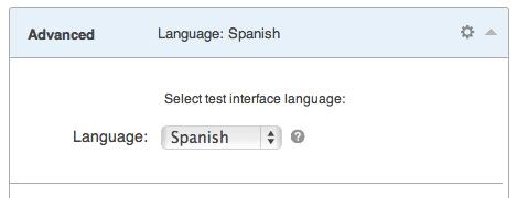 Multilingual Quiz Interface selector
