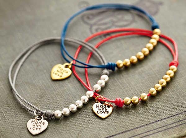 Lindos brazaletes de la amistad hechos a mano
