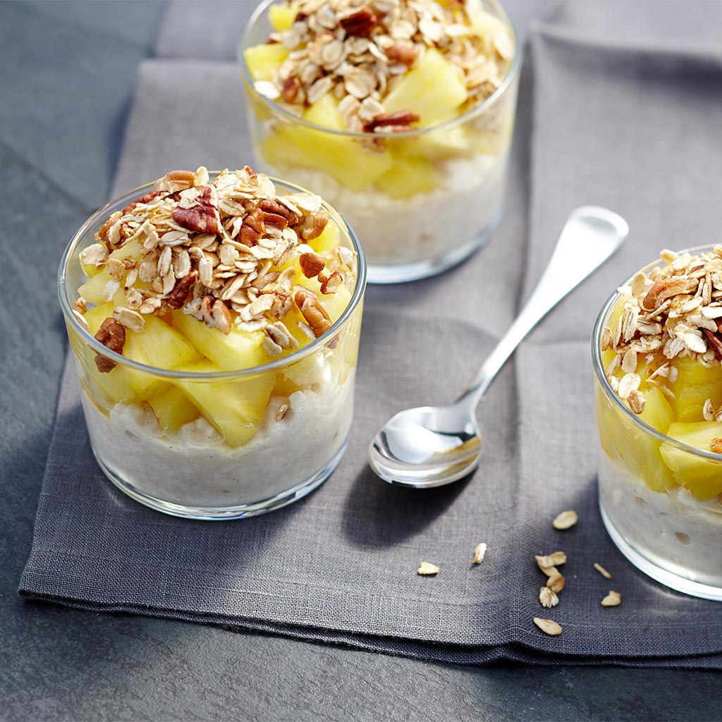 Ginger Granola Pineapple Cottage Cheese