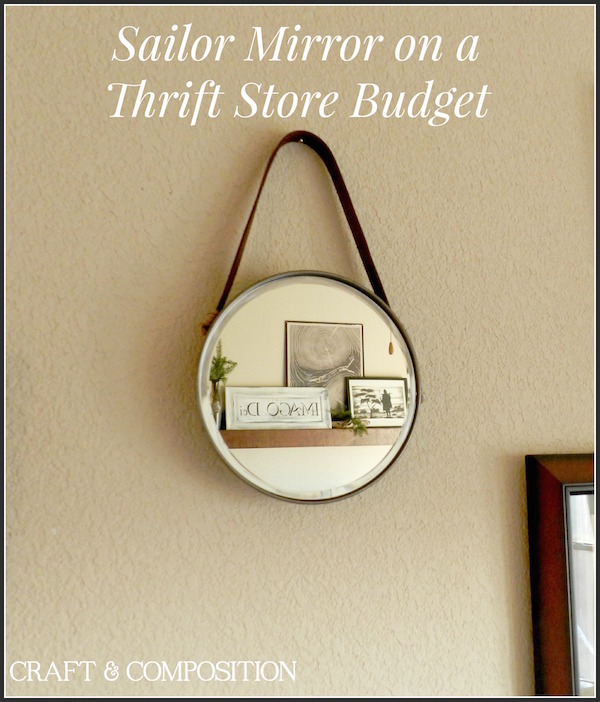 Sailor Mirror on a Thrift Store Budget