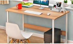 Escritorio con cubierta de madera color natural - Groupon