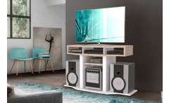 Mesa de tv en color rovere-blanco con maderkit® - Groupon