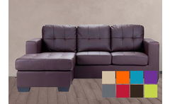 Sofa Seccional Praga de 3 CPOS, color a eleccion, en Decotax - Cuponatic