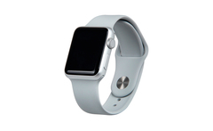 Correa de silicona Sport para Apple Watch gris claro de 42 mm - Groupon